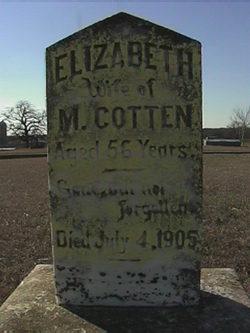 Elizabeth <i>Elliott</i> Cotten
