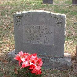 Anna Elizabeth <i>Maples</i> Cowden