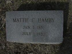Mattie C <i>Johnson</i> Hamby