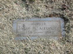 Sarah Matilda <i>Saunders</i> Alexander