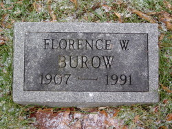 Florence W <i>Wilson</i> Burow