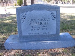 Alice Sussan <i>McCurdy</i> Allbright