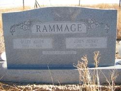 Olley <i>Allen</i> Rammage