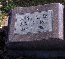 Ann <i>Evans</i> Allen