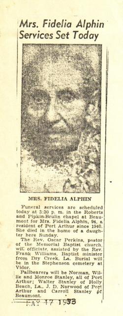Fidelia <i>Hamilton</i> Alphin