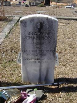 Brady W Champion