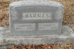 Sarah Jane Elizabeth Jennie <i>Gaston</i> Barnes