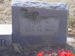 Sadie <i>Welch</i> Barger