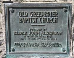 Rev John Alderson, Jr