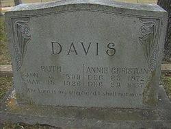 Annie Christian <i>Robertson</i> Davis