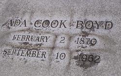 Ada <i>Cook</i> Boyd