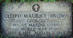 Pvt Cloyd Maurice Brown