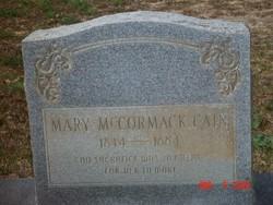 Mary <i>McCormack</i> Cain