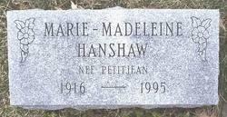 Marie Madeleine <i>Petitjean</i> Hanshaw