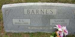 Nancy Elizabeth Nannie <i>Keeling</i> Barnes