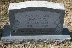 Ann <i>Purser</i> Crawford