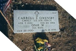 Carroll E Owensby