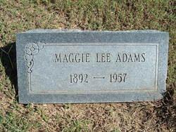 Maggie Lee <i>DeWeese</i> Adams
