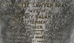 Charlotte Sarah <i>Sawyer</i> Branch