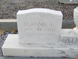 Blannie <i>Green</i> Adams