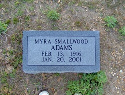Myra <i>Smallwood</i> Adams