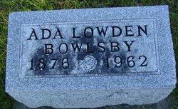 Ada R <i>Lowden</i> Bowlsby