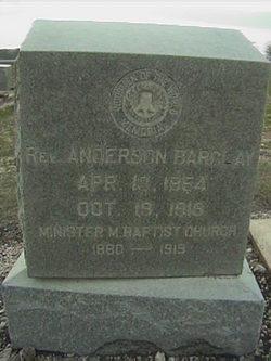 Rev Anderson Barclay