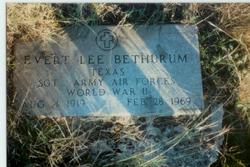 Sgt Evert Lee Bethurum