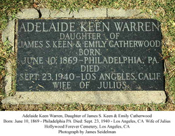 Adelaide Keen <i>Catherwood</i> Warren