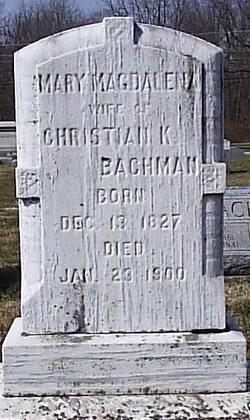 Mary Magdalena <i>Witmer</i> Bachman