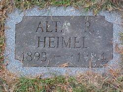 Alta Ruth <i>Hines</i> Heimel