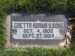 Gretta Izora <i>Adams</i> Bone
