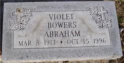 Violet <i>Bowers</i> Abraham
