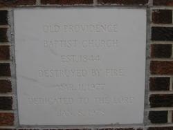 Old Providence Baptist Church Cemetery