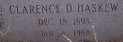 Clarence D Haskew