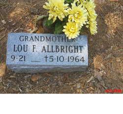 Louella Frances Lou <i>Jones</i> Allbright