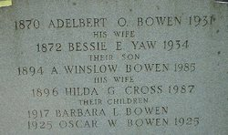Hilda Gertrude <i>Cross</i> Bowen