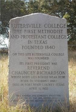 Rutersville College Cemetery