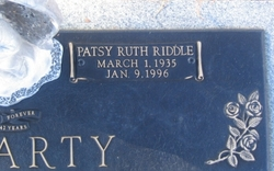 Patsy Ruth <i>Riddle</i> McCarty
