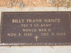 Billy Frank Nance