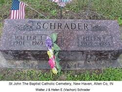 Helen E <i>Vachon</i> Schrader