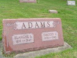 Blanche L. <i>Weeks</i> Adams