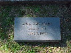 Alma <i>Sims</i> Adams