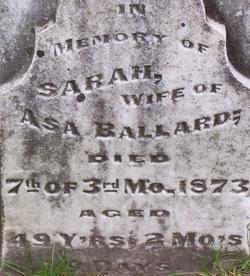 Sarah <i>Shanafelt</i> Ballard