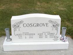 Alice E <i>Pulsipher</i> Cosgrove