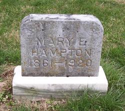 Mary E. <i>Blank</i> Hampton