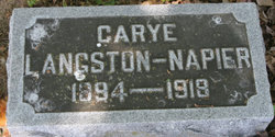 Carye <i>Langston</i> Napier