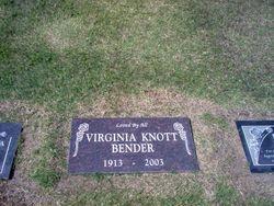 Virginia <i>Knott</i> Bender