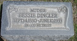 Bessie Emeigh Taber <i>Hocking</i> Dingler