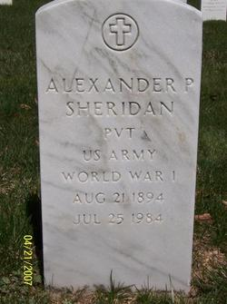 Alexander P Sheridan